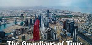dubai art-design-architecture-gallery-museum-monk-sheikh-guardians of time sculpture-tower-hous-of-art-manfred kielnhofer